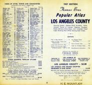 Index, Title Page, Los Angeles County 1957 Street Atlas